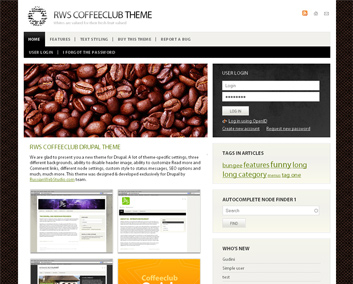 Coffeeclub Drupal theme