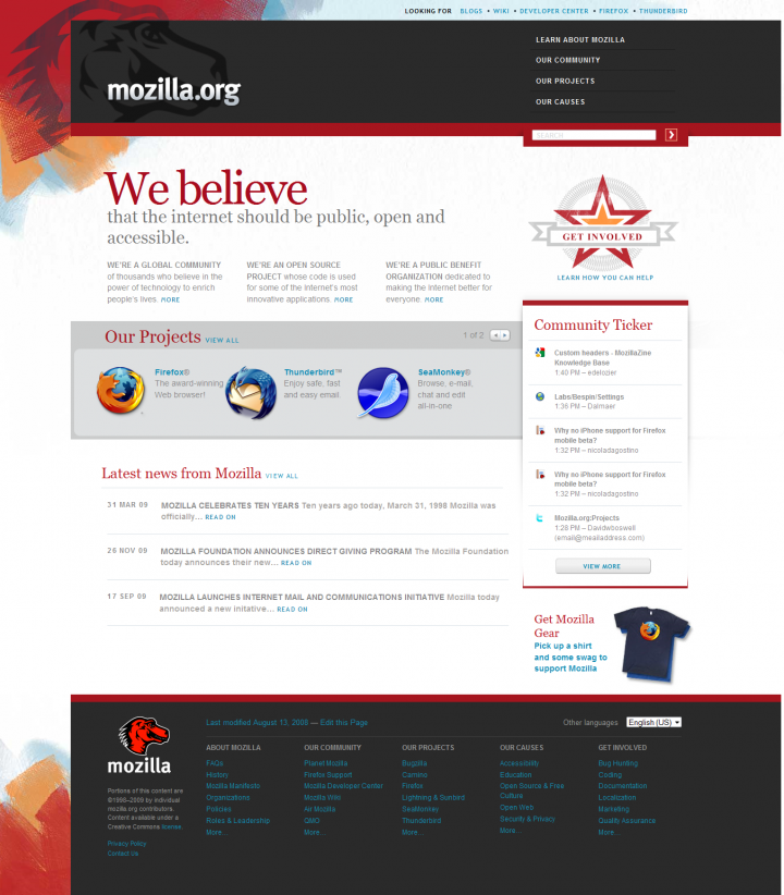 Mozilla org theme | Drupal and Symfony2 developers and